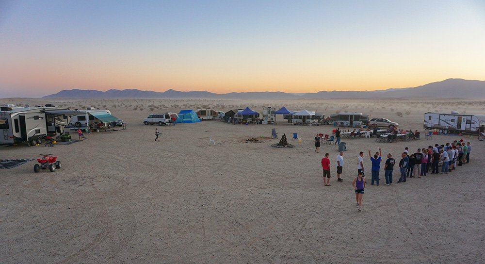 panoramic view, Ocotillo Wells, Dry Camping, desert camping, boondocking, sunset, desert, Anza Borrego, RV, Trailer, camping