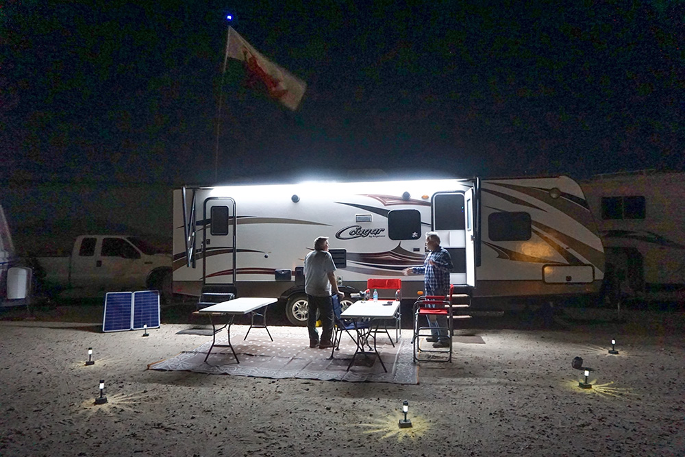 Night Trailer Led Lights Rv Awning Boondocking Solar